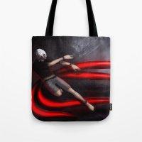 tokyo ghoul Tote Bags featuring Tokyo Ghoul: Kaneki by Arnix