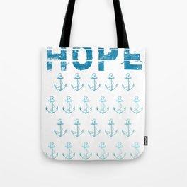 Hope Anchor Pattern Tote Bag