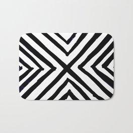 Angled Stripes Bath Mat