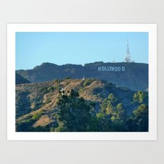 Hills of Hollywood Art Print