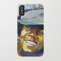 mike wrobel iPhone & iPod Cases featuring Young Mike by Monifa Charles