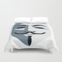 Anonymous Mask #society6 #decor #buyart #artprint Duvet Cover