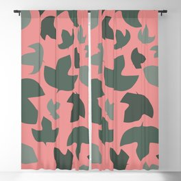 Ivy on pink Blackout Curtain