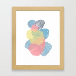 Happy Cairn Graphic Abstract Print Framed Art Print
