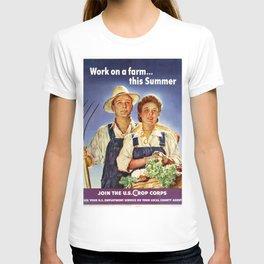 Work On A Farm This Summer T-shirt