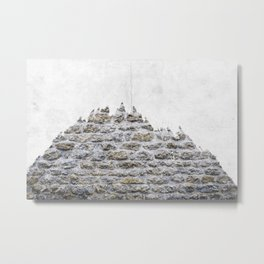 Stone and Tree Metal Print