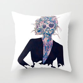 Pastel Light Four Eyes Throw Pillow