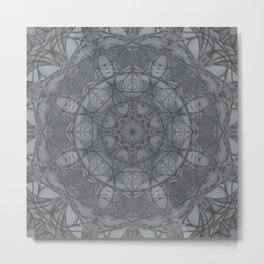 Mandala of My Indigo Light Metal Print