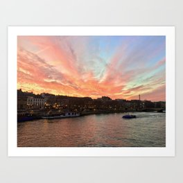 Parisien Sunset Art Print