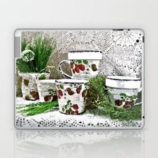 Old Cups and Greens - Painting Style Laptop & iPad Skin