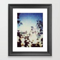 Triangle Space Framed Art Print