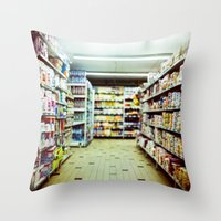 shopping Throw Pillows featuring Shopping by jmdphoto