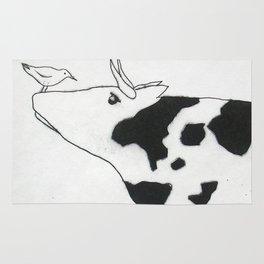 Bird & Cow Rug