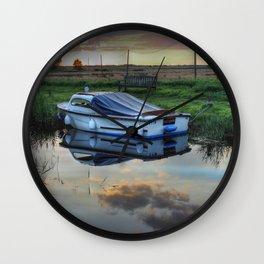 Boat at West Somerton  Wall Clock