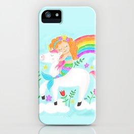 Unicorns, Mermaids & Rainbows...Oh My! iPhone Case