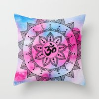 ohm Throw Pillows featuring Ohm by Frida Glans