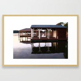 Dock Reflections Framed Art Print