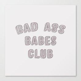 Bad Ass Babes Club purple Canvas Print