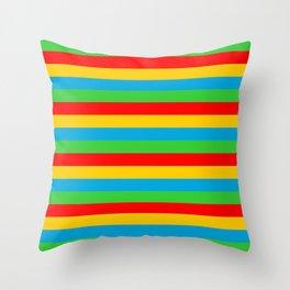 Eritrea flag stripes Throw Pillow