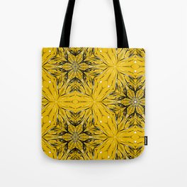 Black and yellow star ornament Tote Bag