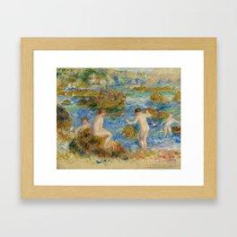 """Auguste Renoir """"Garçons nus dans les rochers à Guernsey"""" Framed Art Print"""