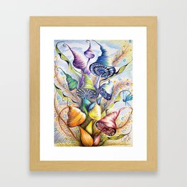 Wizard Mushrooms Framed Art Print