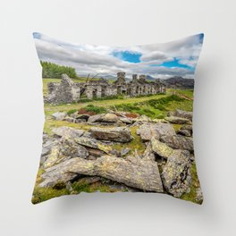 Rhos Quarry Cottages Snowdonia Throw Pillow
