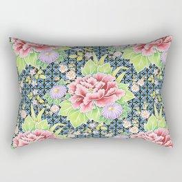 Kimono Bouquet Brocade Rectangular Pillow