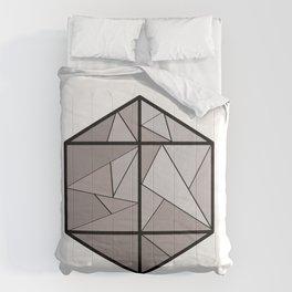 Graphic . 3 geometric shape gray Comforters