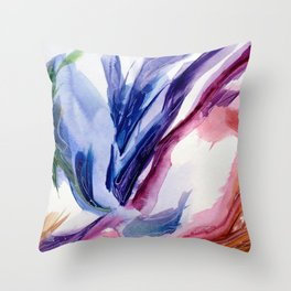 Fluid #4 Throw Pillow