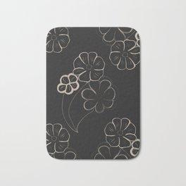 Light Sepia Flower Pattern #1 #drawing #decor #art #society6 Bath Mat