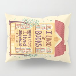 Lived in books Pillow Sham