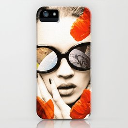 poppy pop (kate Moss) iPhone Case
