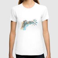 gun T-shirts featuring Gun by Marcelo Romero