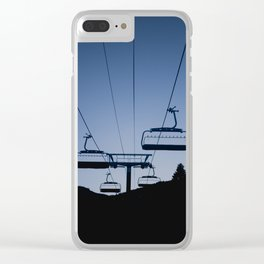 Mammoth Mountain Silhouette Clear iPhone Case