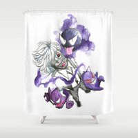 tokyo ghoul Shower Curtains featuring Tokyo Ghoul Gym Leader by Blackapinaa