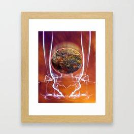 Down the Tube Framed Art Print