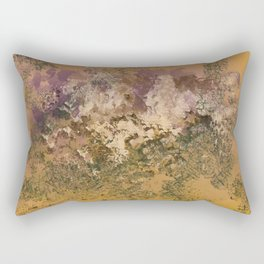 Abstract in Gold, Purples and Greens Rectangular Pillow