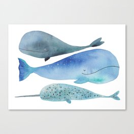 Whale dream team Canvas Print