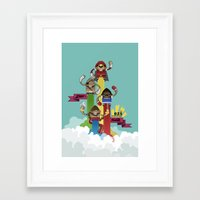 street fighter Framed Art Prints featuring Street Fighter 25th Anniversary!!! by Ed Warner