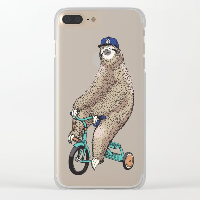 Haters Gonna Hate Sloth Clear iPhone Case