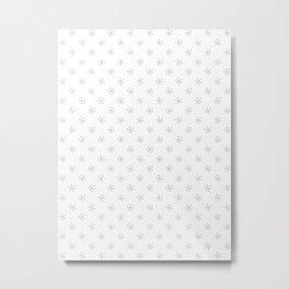 Gray on White Snowflakes Metal Print