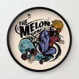 The Melon Grab Wall Clock