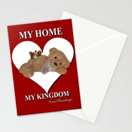 My Home, My Kingdom - Red Stationery Cards