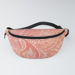 Lacey Pattern on Coral Fanny Pack