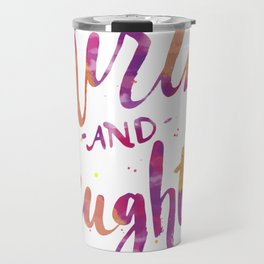 With Mirth and Laughter Travel Mug
