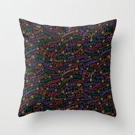 Drag Word Association Pattern Throw Pillow