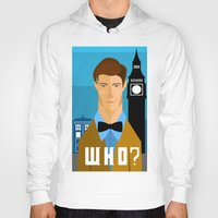 the who Hoodies featuring Who? by Mountain Top Designs
