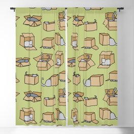 Cats in Cardboard Boxes Blackout Curtain
