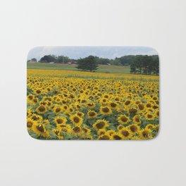 Field of a Million Sunfowers I Bath Mat